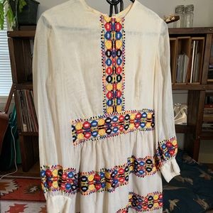 Mexican-inspired embroidered dress
